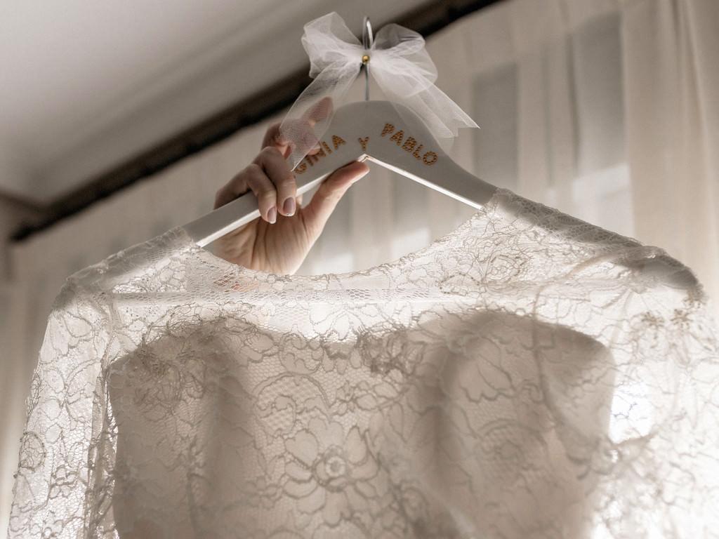 Detalles del vestido de novia