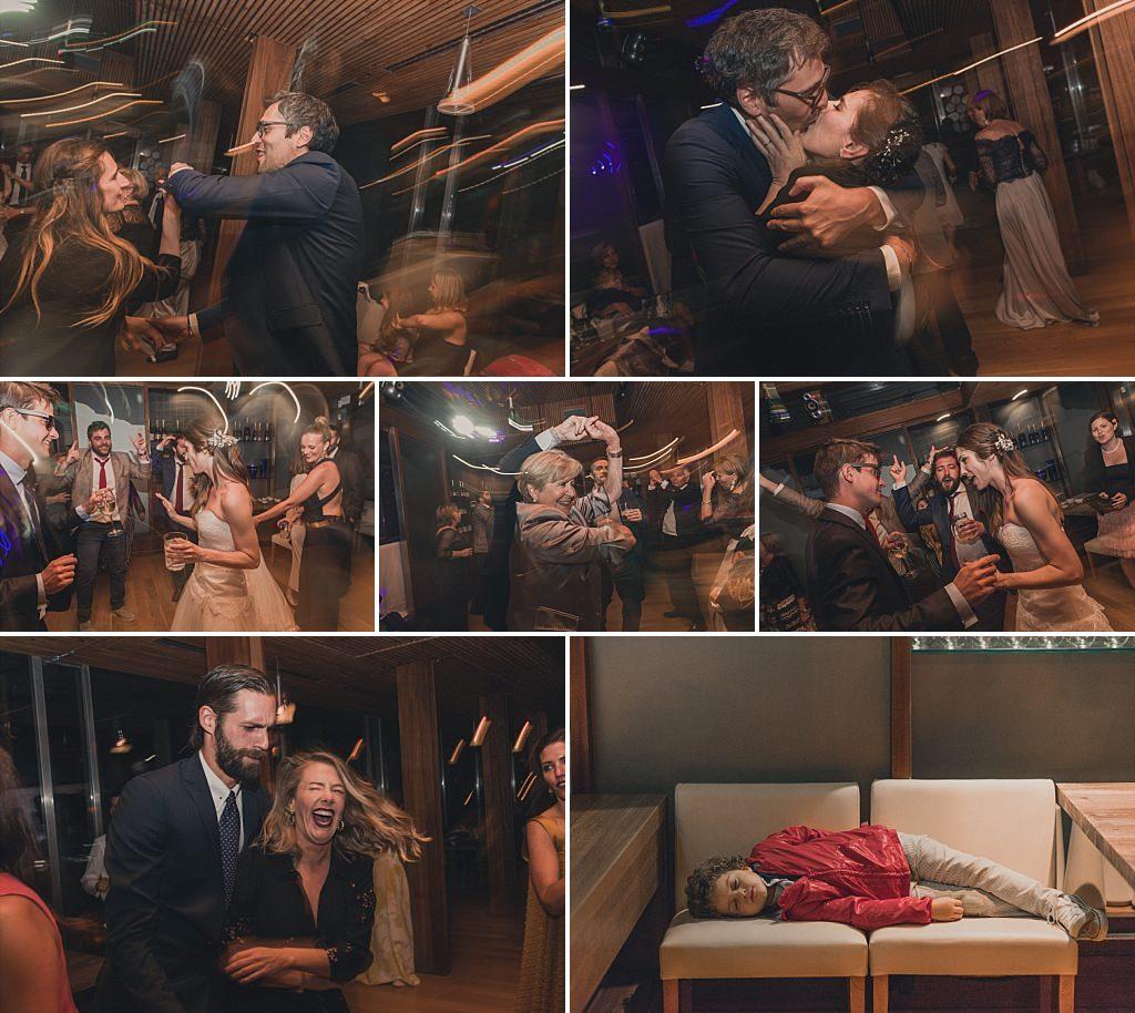Celebración y baile de boda
