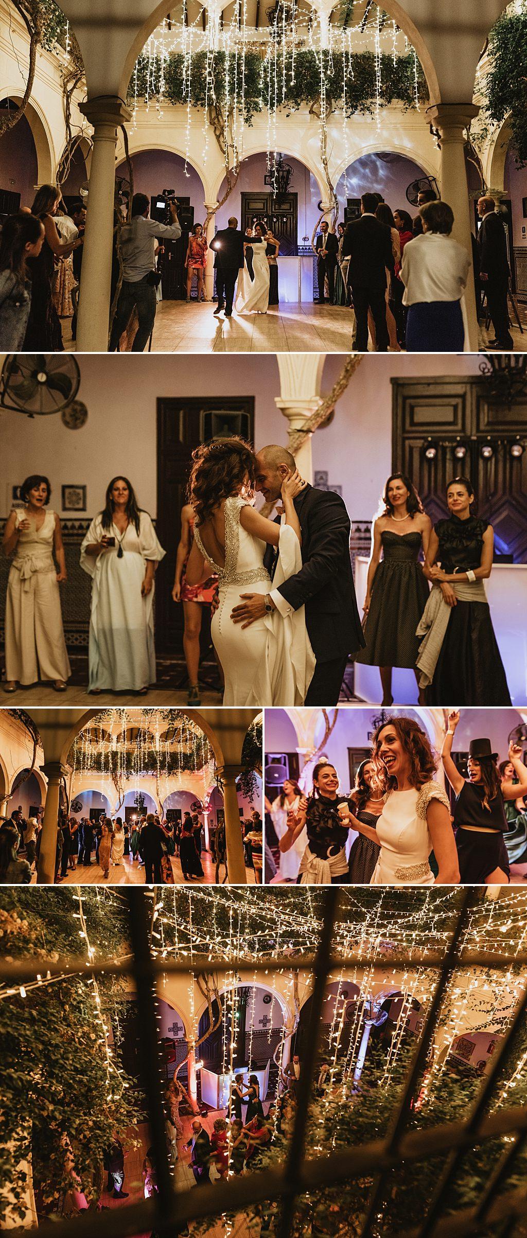 Celebración del baile de boda.