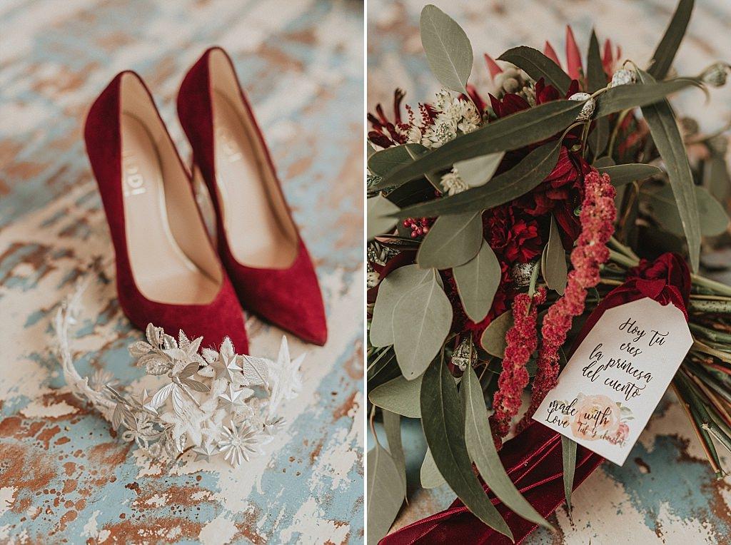 Color grana para una boda