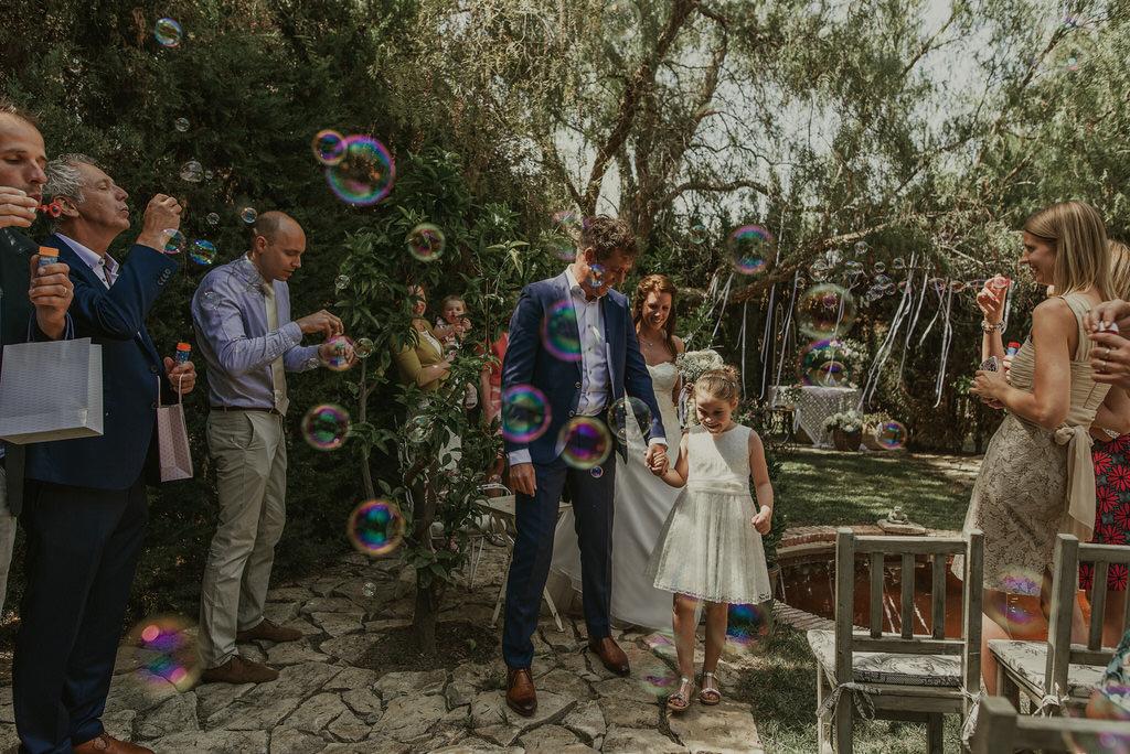 Celebración de boda original