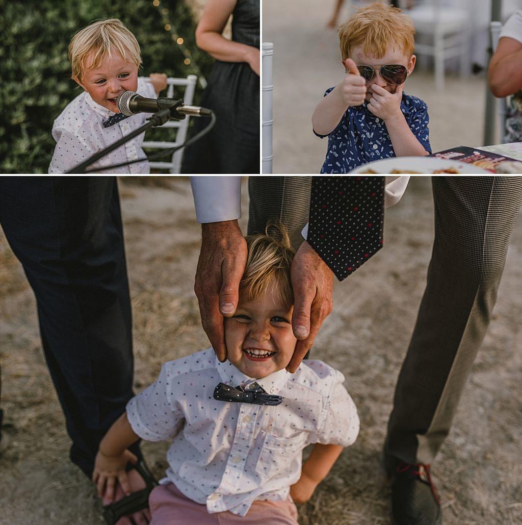 Los niños, parte importante en las bodas
