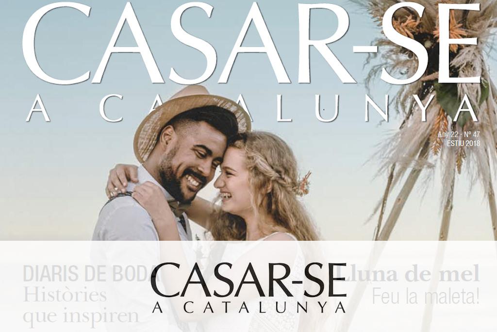 Portada en la revista especializada en bodas - Casar-se a Catalunya